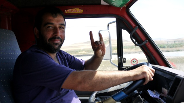 Our Turkish driver, during our hitch-hiking trip in 2011