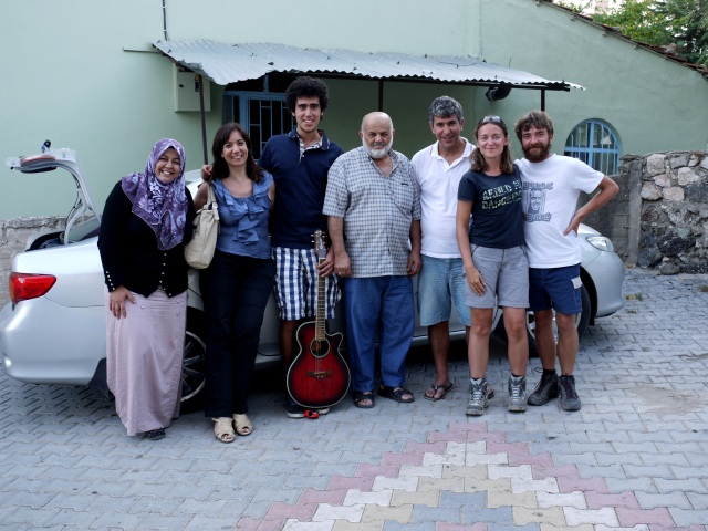 Turkish families who met while helping us
