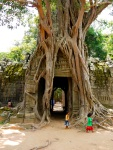 Third eastern Gopura (entrance) to Ta Som temple with strangling Fig - Siem Reap, Cambodia (18