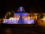 Illuminated fountain on Fountains square - Baku by night - Baku, Azerbaijan (1)