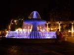 Illuminated fountain on Fountains square - Baku by night - Baku, Azerbaijan (1)