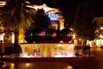 Metallic ball fountain at the centre of Fountains square - Baku by night - Baku, Azerbaijan (2)
