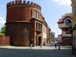 Fortified tower on Podmurnej street in Torun Old Town - Torun, Poland