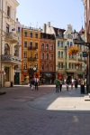 Buildings and shops in Toruń Old Town, taken from Królowej Jadwigi street - Torum, Poland (16)