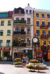Façade of shop fronts along Wielkie Garbary street - Torun, Poland (17)
