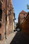 City walls and Leaning Tower, taken in Torun Old Town - Torun, Poland (3)