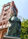 Statue of Nicolaus Copernicus in front of Old Town Hall - Toruń, Poland (7)