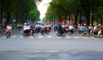 Crazy traffic as mopeds fight for position - Ho Chi Minh City, Vietnam (9)