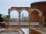 Ruins of an arch at Palais de la Berbie with St-Madeleine Church in the background - Albi, France (10)