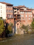 Waterside houses and the River Tarn - Albi, France (141)