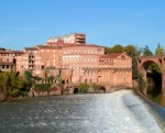 The River Tarn and water mills - Albi, France