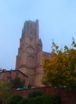 Albi Cathedral in the morning mist - Albi, France