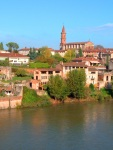 View across the River Tarn of Albi and St. Madeleine Church - Albi, France (79)