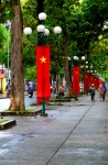 Communist party state banners along the road side - Ho Chi Minh City, Vietnam (15)
