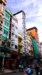 Typical brightly coloured vertical buildings - Ho Chi Minh City, Vietnam (2)