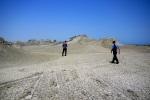 Out taxi driver and Jon walking towards the mud volcanoes - Gobustan National Park, Azerbaijan (14)