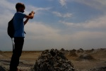 Jon taking a photo of the other worldly looking Mud Volcanoes - Gobustan National Park, Azerbaijan (18)