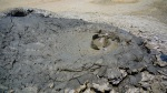 Close up of a Gobustan Mud Volcanoe whilst its surface bubbles away - Gobustan National Park, Azerbaijan (19)