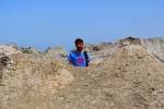 Jon hiding in a crater at the Gobustan Mud Volcanoes - Gobustan National Park, Azerbaijan (21)