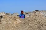 Jon hiding in a crater at the Gobustan Mud Volcanoes - Gobustan National Park, Azerbaijan (21)