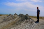 Our taxi driver surveying the scene at the Gobustan Mud Volcanoes - Gobustan National Park, Azerbaijan (8)