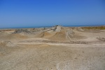 The moon-like cratered surface of Gobustan Mud Volcanoes - Gobustan National Park, Azerbaijan (9)