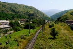Train tracks under the M8 bridge - Vanadzor, Armenia (10)