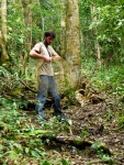 Hiking in the rainforest, making a lasso - Cameron Highlands, Malaysia (19)