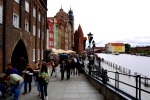Waterfront promenade along the Motława River, packed with tourists - Gdansk, Poland (10)