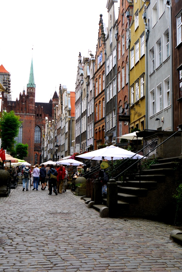 Ulica Mariacka, famed for its amber and silver shops, with St. Mary's Church in the background - Gdansk, Poland (11)