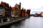 The Motława River and waterfront with medieval port crane prominent in the background - Gdansk, Poland (8)