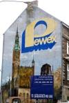 Advert for communist period Pewex shop - Gdansk, Poland (9)