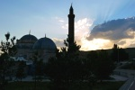 Vaizoglu Mosque and minaret, taken at dusk - Kars, Turkey (1)