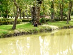 Solitary man contemplating the river - Sukhothai Historical Park, Thailand (10)