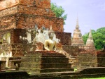 Seated Buddha statue, taken among the ruins of Wat Mahathat - Sukhothai Historical Park, Thailand (2)