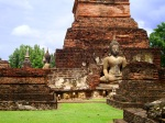 Two large seated Buddha statue, taken among the ruins of Wat Mahathat - Sukhothai Historical Park, Thailand (3)