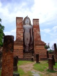 Large standing Buddha at Wat Mahathat - Sukhothai Historical Park, Thailand (5)