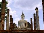 Seated Buddha statue, taken at Wat Mahathat - Sukhothai Historical Park, Thailand (7)