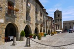 Beautiful old buildings on Plaza Mayor, the main square in Ainsa old town and Saint Mary's Church - Ainsa, Spain (11)