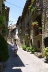 Jon enjoying the sights on Main street - Ainsa, Spain (4)