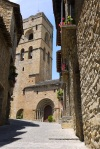 Sant Mary's church in bright sunshine - Ainsa, Spain (5)