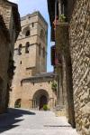 Sant Mary's church in bright sunshine - Ainsa, Spain (5)