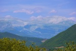 The snow peaked tops of the Pyrenees, taken from Ainsa old town - Ainsa, Spain (8)