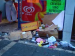 Empty boxes, beer bottles and general waste fill the streets - San Fermín - Pamplona, Spain (8)
