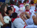 Revelers relaxing on the grass with cuddly toys - San Fermín - Pamplona, Spain (10)