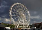 The amusement park's Ferris wheel against a dark and threatening sky - San Fermín - Pamplona, Spain (19)