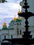 Church of the Saviour at Berestove with fountain in foreground, near Kiev Pechersk Lavra Monastery - Kiev, Ukraine (1)