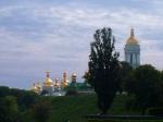 Long range shot of the domes of Kiev Pechersk Lavra Monastery - Kiev, Ukraine (10)