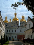 The onion domes of Cathedral of the Dormition, at Kiev Pechersk Lavra Monastery - Kiev, Ukraine (3)
