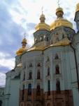 The imposing façade of the Cathedral of the Dormition, at Kiev Pechersk Lavra Monastery - Kiev, Ukraine (5)